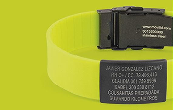 a23de09d00ae identification wristbands for runners medical id Manillas de ...